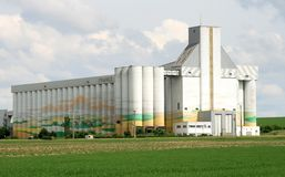 Silo de Cuperly, France Stock Image