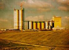 Silo de grano envejecido foto de archivo libre de regalías