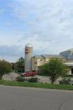 Silo de Harley Davidson, Des Moines, Iowa Imagen de archivo libre de regalías