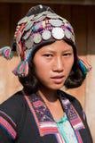 Silo del gruppo etnico del ritratto nel Laos fotografia stock