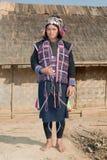 Silo del gruppo etnico nel Laos Immagini Stock Libere da Diritti