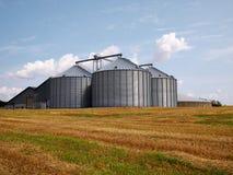 Silo di grano dell'azienda agricola Fotografia Stock Libera da Diritti