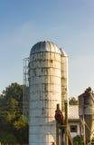 Silo di grano su Virginia Farm fotografia stock