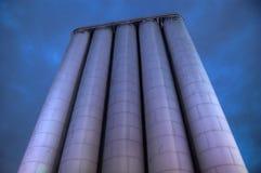 silo di notte fotografia stock