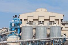 Silo di stoccaggio del grano per agricoltura Immagini Stock Libere da Diritti