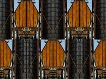 Silo do trigo da f?brica e projetos das formas foto de stock