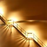 Silo em a noite Imagem de Stock