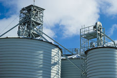 Silo for grain Stock Photo