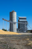 Silo and grain elevator Royalty Free Stock Photo