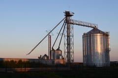 Silo grain storage Nebraska feedyard royalty free stock photos