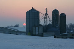 Silo and Grainery Royalty Free Stock Photos