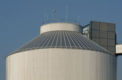 Silo of an industrial plant Royalty Free Stock Photography