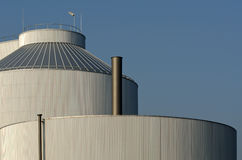 Silo of an industrial plant Stock Images