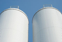Silo industriale di agricoltura Immagine Stock