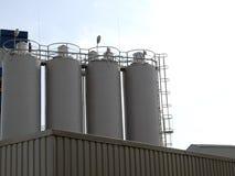 Silo industriel en acier Images stock