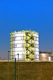 Silo in an Industry Park in beautiful landscape Stock Photography