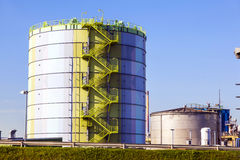 Silo in Industry Park in beautiful Royalty Free Stock Photos