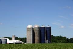 Silo - Jersey-Bauernhof Stockfoto