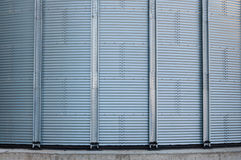 Silo metallic wall detail Royalty Free Stock Photo