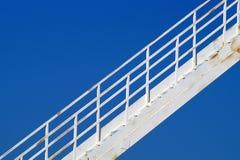 Silo mit Treppe Stockfoto