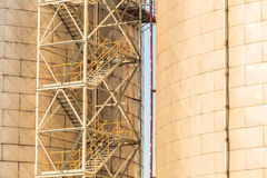 Silo in morning harbour. Stock Photos