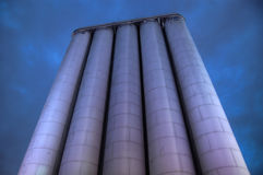 Silo at night Stock Photography
