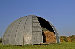 Silo roof acts as storage Stock Photo