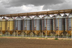 silo's Royalty-vrije Stock Foto's