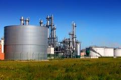 Silo's en tanklandbouwbedrijven stock fotografie