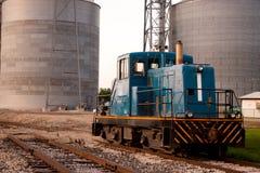 Silo's van de Auto van de trein de Hoofd Stock Foto's