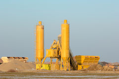 Silo, sand and gravel Royalty Free Stock Photo