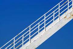 Silo with stairs. And beautiful blue sky in the background stock photo