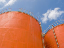 Silo steel tanks Stock Image