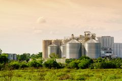 Silo structure for storing bulk dried seed factory for keep inve. Ntory. agricultur industry Stock Photo