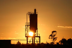 Silo sunrise Stock Image