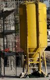Silo to hold mortar and cement in the construction site Royalty Free Stock Image