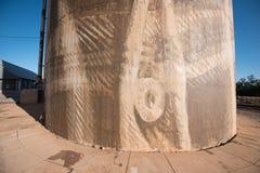 Silo trail artwork in Lascelles stock image