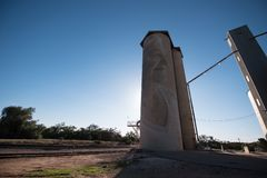 Silo trail artwork in Lascelles royalty free stock image