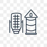 Silo vector icon isolated on transparent background, linear Silo stock illustration