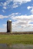 Silo - vertical orientation. Spring time - SE Iowa Royalty Free Stock Photo