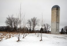 Silo in Winter royalty free stock photography
