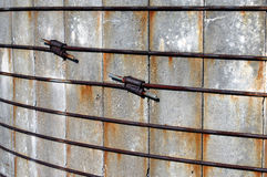 Silo wire clamps Royalty Free Stock Image