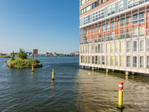 Silodam hyreshus i Amsterdam, Holland Royaltyfri Bild