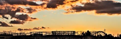 Silohutte, ηλιοβασίλεμα, δομή, Ιταλία Στοκ φωτογραφίες με δικαίωμα ελεύθερης χρήσης