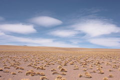 Silol Desert and the sky Stock Image