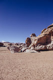 Siloli Desert. In Bolivia, stone tree growing out of the sand in the middle of the Andes Stock Image