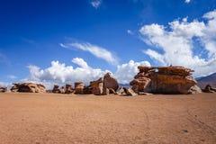 Siloli desert in sud Lipez reserva, Bolivia Royalty Free Stock Photo