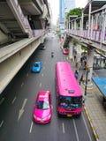 Silom linje Skytrain Royaltyfria Bilder