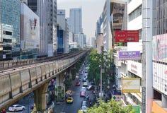 Silom线Skytrain 库存照片