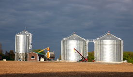 Silos Royalty Free Stock Photo